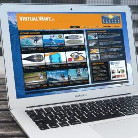 Diseño gráfico de web para virtualwave.es