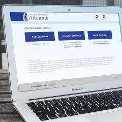 Diseño Gráfico de web para el Ayuntamieto de Alicante