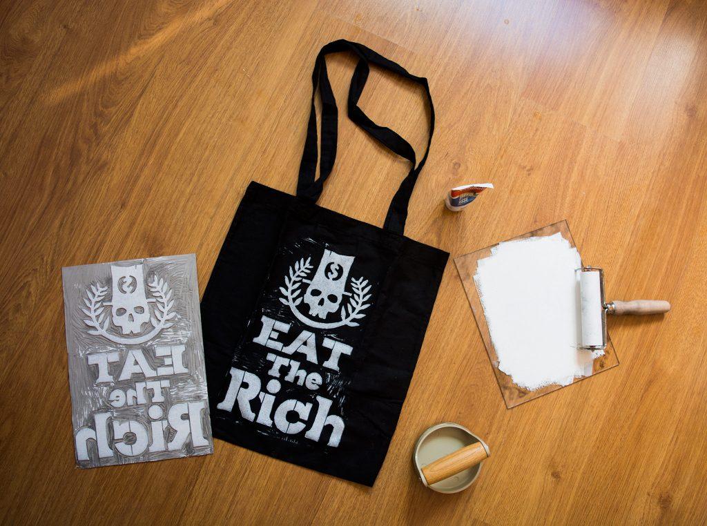 Set de impresión eat the rich
