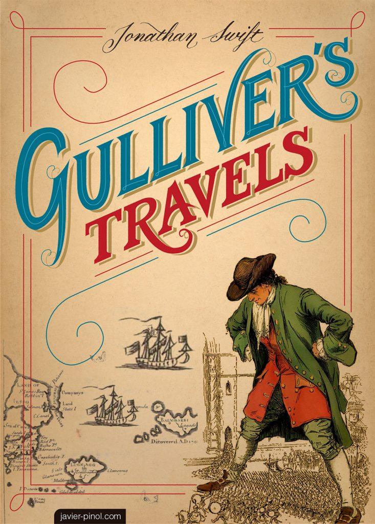 Design of Gulliver's Travels bok cover