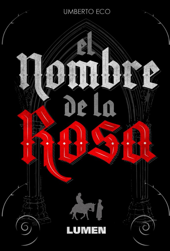 Diseño de la portada El Nombre de la Rosa