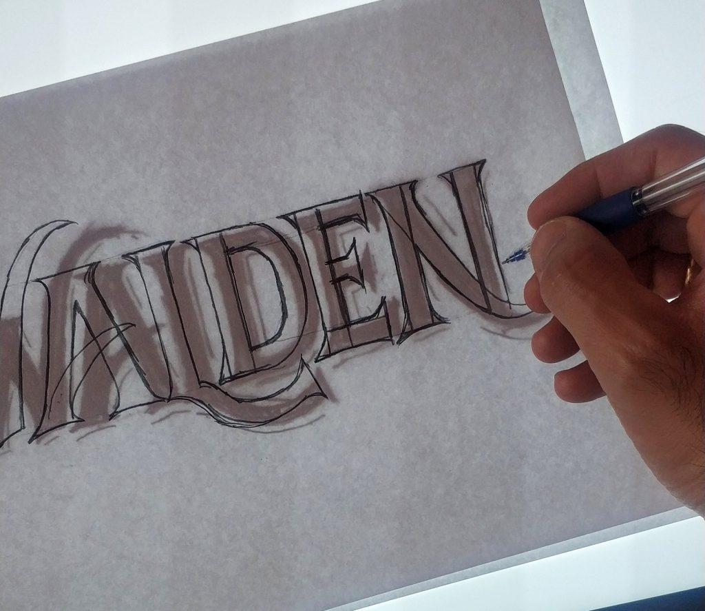 Walden lettering