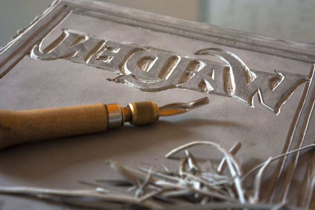 Carving linocut