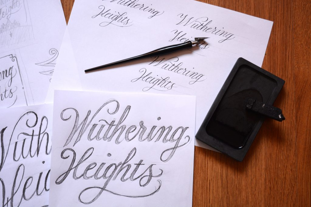 Wuthering Heights copperplate calligraphy